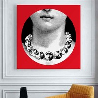 Cuadros Decoracion free Shipping Italy Fornasetti Frameless Paintings Modern Gifts Wall Art Quotes Bedroom Decor
