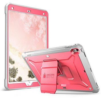 SUPCASE iPad Pro 10.5 inch case, [Heavy Duty] [Unicorn Beetle PRO Series] Full-body Rugged Protective Case with Built-in Screen Protector Design for Apple iPad Pro 10.5 inch 2017 (Pink/Gray)