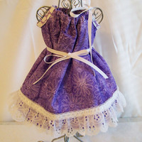 Made to Order, Purple Floral  Handmade 18