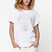 Volcom Raise Hell Rolled Sleeve T-Shirt - Womens Tee - White