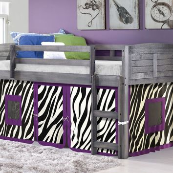 Hailey Grey Loft with Zebra Tent