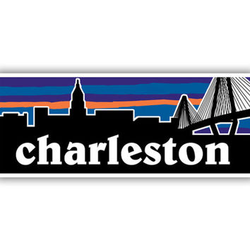 Charleston South Carolina Patagonia Inspired Decal Sticker