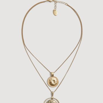 Metal piece necklace - Women | MANGO USA