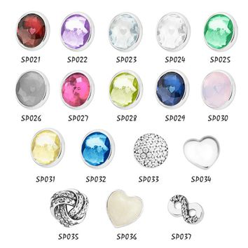 CKK 100% 925 Sterling Silver Petite Beads Fit Float Locket Pendant Charms DIY Necklaces Fine Jewelry PT21-37