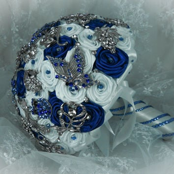 Shop Blue Bridesmaids Bouquets on Wanelo