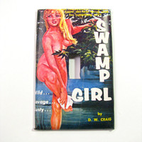 Light Switch Cover - Light Switch Plate Vintage Pulp Pin Up Swamp Girl