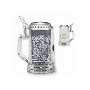 Glass Etched Wedding Stein - Engravable Personalized Perfect Wedding Gift