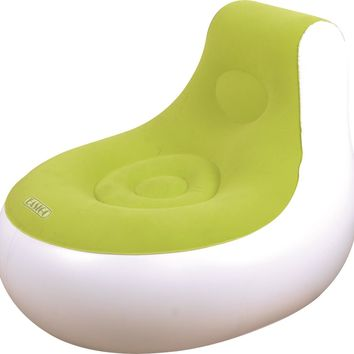 "36.5"" White and Green Inflatable Indoor/Outdoor ""Easigo"" Side Chair"