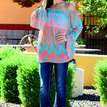 CANDY CRUSH CHEVRON TOP
