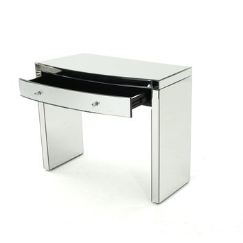 Navas Mirrored Curved Console Table