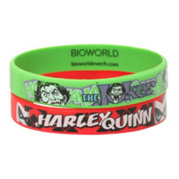 DC Comics The Joker & Harley Quinn Rubber Bracelet 2 Pack