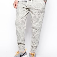 ASOS Skinny Sweatpants With Paisley Print at asos.com