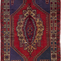 "Hand-knotted Turkish 3'7"" x 6'6"" Anadol Vintage Wool Rug...REDUCED PRICE!"