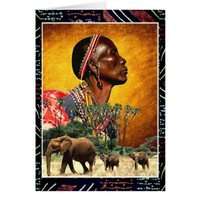 Praying and Watching Over the Animals of Africa Card