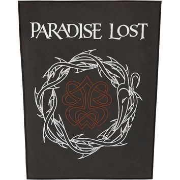 Paradise Lost Men's Crown Of Thorns Back Patch Black