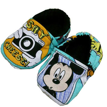 Mickey Mouse Disney  Baby Girl Boy's Slippers Shoes Booties Crib Shoes Christmas Choose 0-24 M 3T - 5T Baby Shower Gift