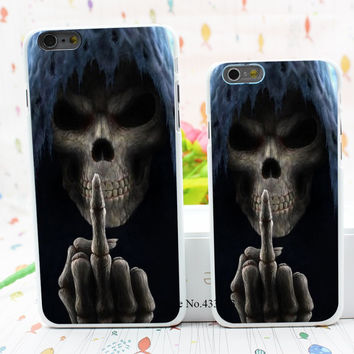 Grim Reaper Gothic Death Angel Style Hard White Cover Skin Back Case for iPhone 6 6s 6 plus
