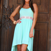 High On Summertime Dress: Mint | Hope's