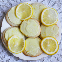 Two Dozen Frosted Lemon Wafers