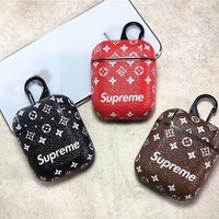 Supreme Monogram AirPods Leather Case