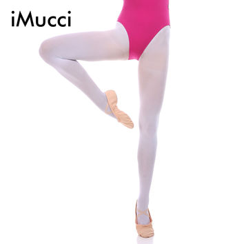 iMucci Professional Ballet Dance Tights Full Foot Velvet Adult Women Convertible Sock Girl Socks Dancing Ballerina Leggings