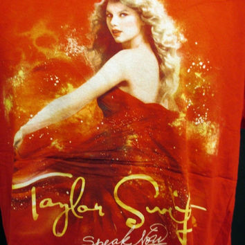 Retro TAYLOR SWIFT Pop Tour Poster American Band Music Rock Tee T-Shirt Large