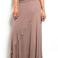 Spring Maxi Skirt - Brown
