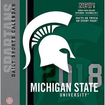 Michigan State Spartans Desk Calendar, Michigan State Spartans by Turner