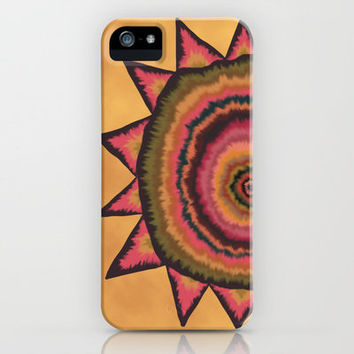 Autumn SunFlower Mandala iPhone Case by Groovity