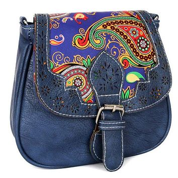 Casual Vintage Small Leather Messenger  Retro Saddle  Crossbody Bag