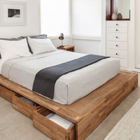 Storage Bed with 8 Rolling Drawers - LAXseries