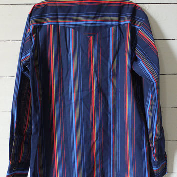 Vintage Clothing Mens Western style Striped Shirt Chests 38 to 40 Vintage Western Cowboy Geek