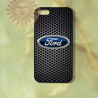 Ford Car Logo iPhone 5, 5s, 5c, 4s, 4, ipod touch 4, 5, Samsung GS3 GS4-Silicone Rubber, Hard Plastic cover