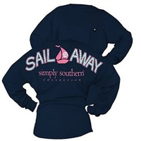 Simply Southern Sail Away Drop Shoulder Jersey Shirt