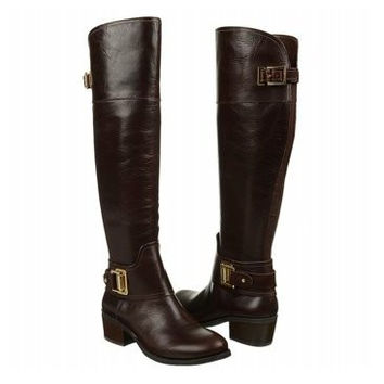Vince Camuto Womens Burly Brown Basira Over The Knee Riding Boots Size 5.5
