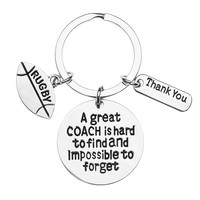 Rugby Great Coach is Hard to Find Keychain