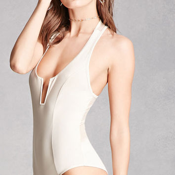 Sheer Mesh-Back Bodysuit