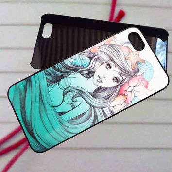 beautifull ariel little mermaid - case iPhone 4/4s,5,5s,5c,6,6+samsung s3,4,5,6