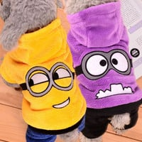 Winter Pet Dog Clothes Jumpsuit Dog Coat Jacket Clothing Cute Puppy Minions Costume for Dogs