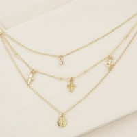 Pray it Forward Layered Cross Necklace