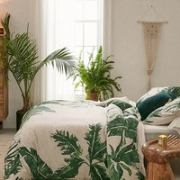 Expressive Palms Jersey Duvet Cover | Urban Outfitters