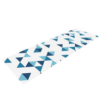 """Project M """"Triangles Blue"""" Navy White Yoga Mat"""