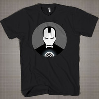 Ironman SquareSpace Circle  Mens and Women T-Shirt Available Color Black And White