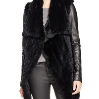 Mackage Jackie Fur Coat with Leather Sleeves - 100% Bloomingdale's Exclusive