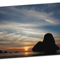 Island off Thailand at Sunset at Sunset in the Pacific Ocean Mirror Wrapped on Canvas