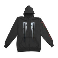 Marilyn Manson Men's  Eat Me Drink Me Zippered Hooded Sweatshirt Black