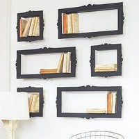 Baroque Bookshelves That Look Like Picture Frames