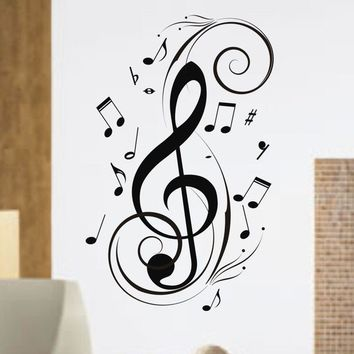 Music Notes Design Decal Sticker Wall by dabbledownJunior on Etsy