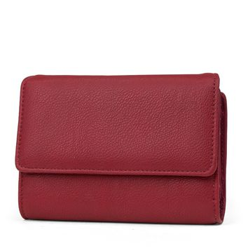 Mundi Amsterdam Small Womens RFID Blocking Wallet Compact Trifold Safe Protection Clutch With Change Purse