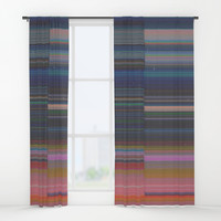 scanner stripes Window Curtains by duckyb